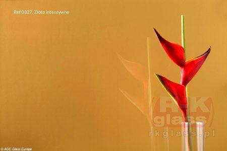 Lacobel w kolorze intensywnego złota