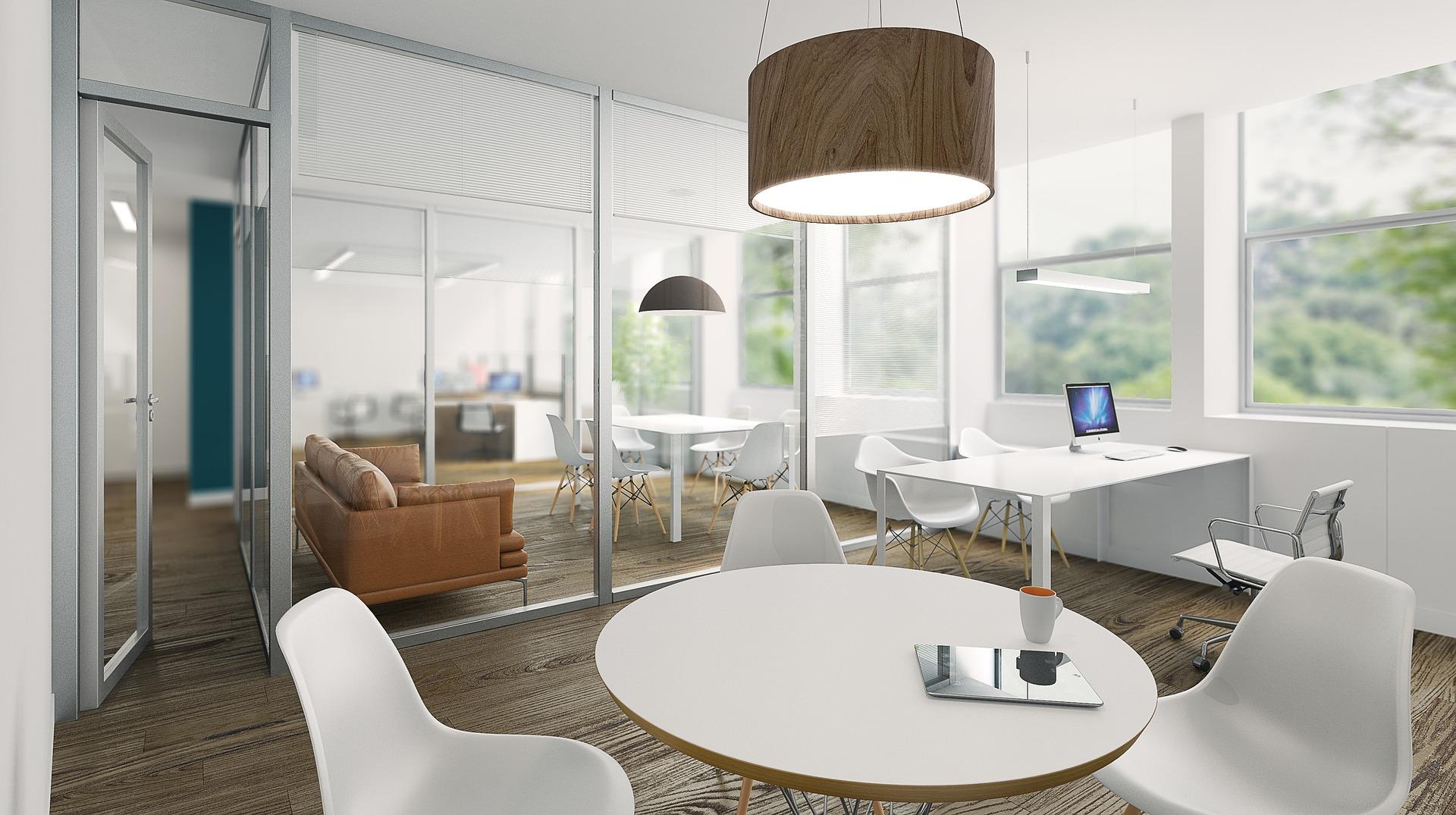 szklane elementy biura