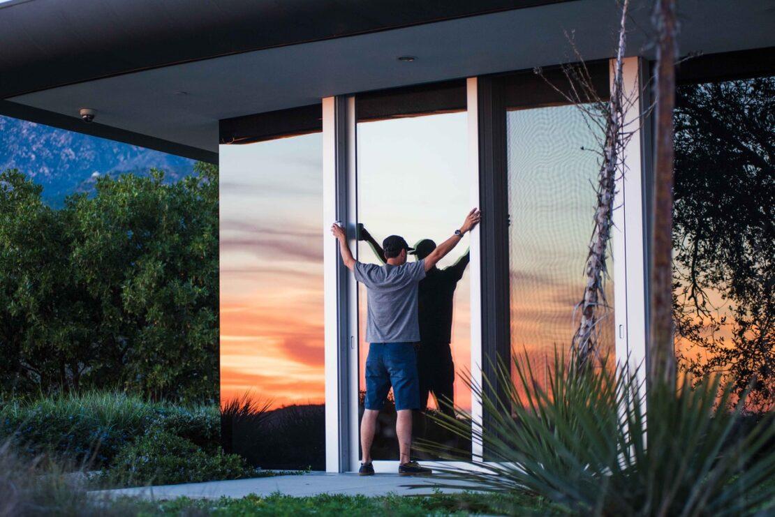 Szklane drzwi w domu