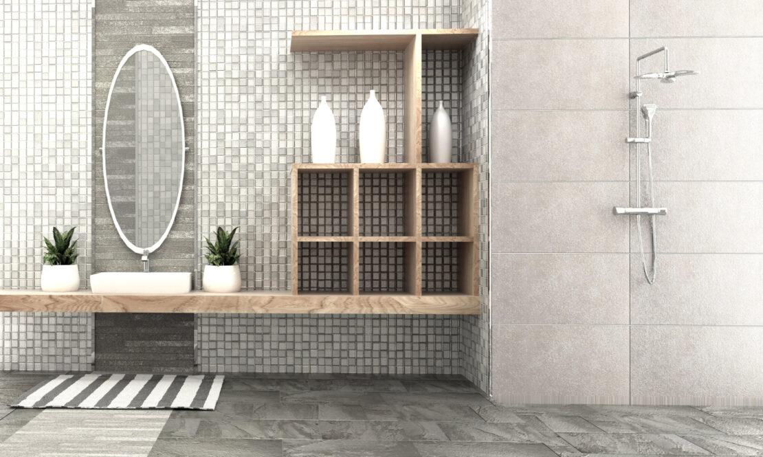 Nowoczesne owalne lustro w łaziece
